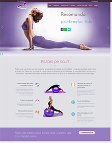 Presentation Website - Studio Pilates On V2 - Portfolio